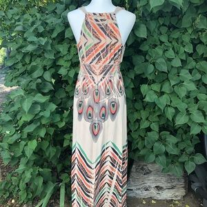 Fresh of LA Dresses - Tribal Peacock Hippie Boho  Maxi Dress